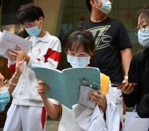 Chinese students take college exam after virus delay