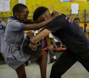 As rape crisis grows, SA pupils learn how to fight back
