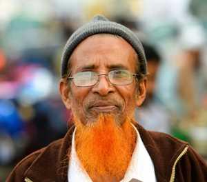 Orange is the new grey for Bangladesh beards