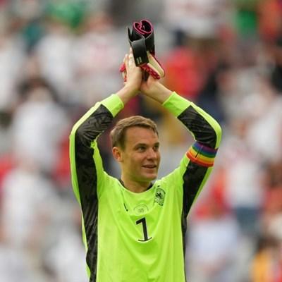 No UEFA action for German 'keeper Neuer's rainbow armband at Euro 2020
