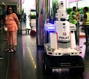 'Robocop' on patrol at Singapore summit