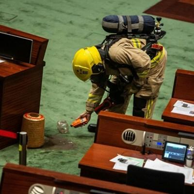 Banana, bean cake and fertiliser stunts in Hong Kong's legislature