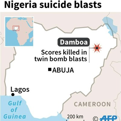 Suicide blasts in NE Nigeria kill at least 31: official, local militia