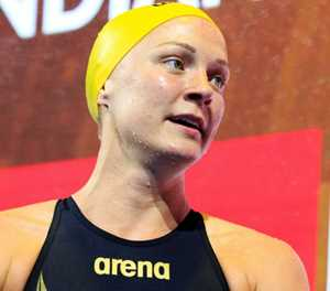 Sjostrom breaks elbow on ice, under six months from Olympics