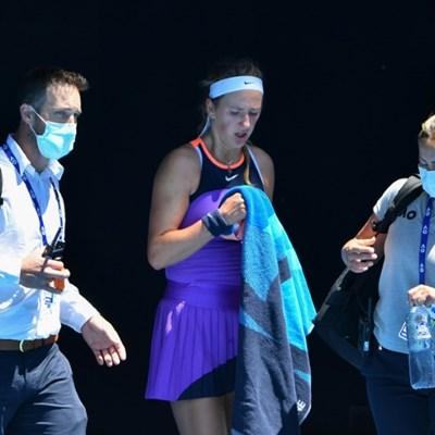 Distressed Azarenka knocked out in Australian Open