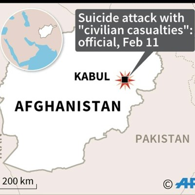 Suicide attack in Kabul leaves civilian casualties: official