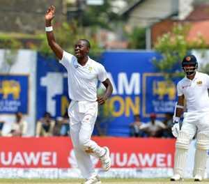 Rabada rattles Sri Lankan middle-order in 1st Test