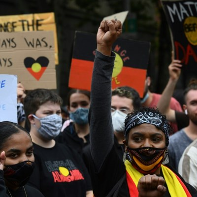 Thousands of Australians defy virus rules to protest 'Invasion Day'