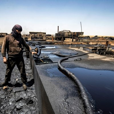 Black waters: Oil spills pollute northeast Syria creeks