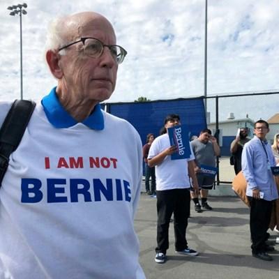 Bernie Sanders look-alike enjoying the ride