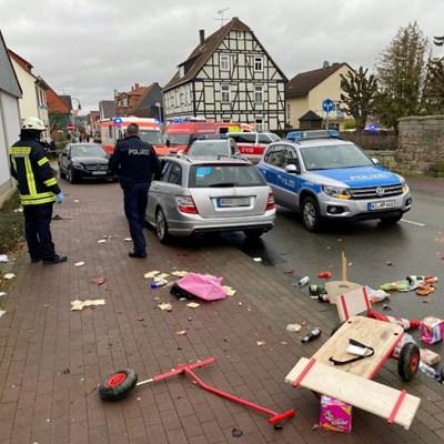 Several dozen hurt as car rams Germany carnival procession