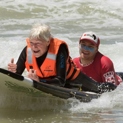 Disabled surfers thrill at catching a wave