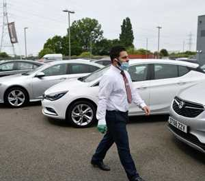 UK car dealership motors out of virus lockdown