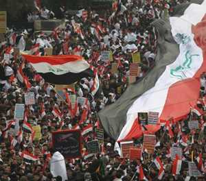 Thousands protest in Iraq to demand ouster of US troops