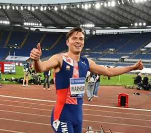 Warholm shatters Young's hurdles record at Oslo Diamond League