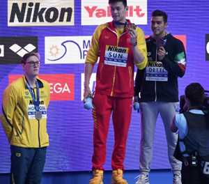 Aussie swimmer Horton says no regrets over Sun podium protest