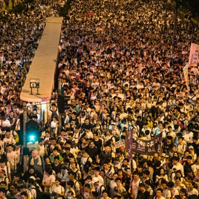 Chinese media blames Hong Kong demo on collusion with West