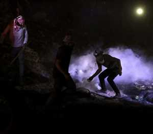 Tyres, fires, lasers: Palestinians smoke out settlers
