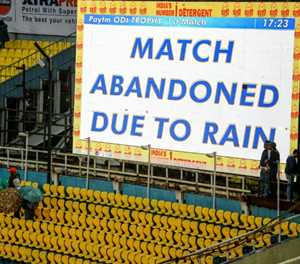 Rain washes out first India-South Africa one-day international