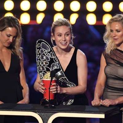 'Avengers' dominates MTV awards as Larsen honors stunt doubles