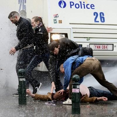 Brussels police arrest 132 in crackdown on anti-lockdown party