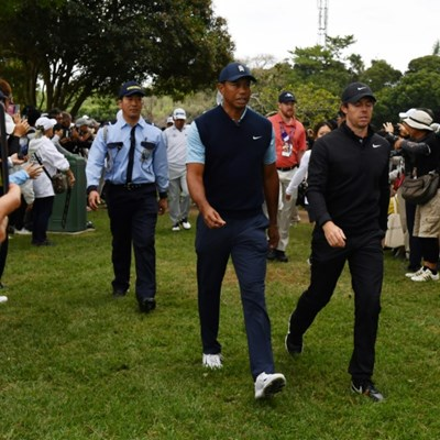 Woods, McIlroy major draws at Japan's star-studded PGA Tour debut