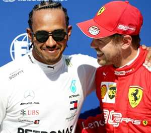 Hamilton hopes Vettel pole will be turning point for Ferrari