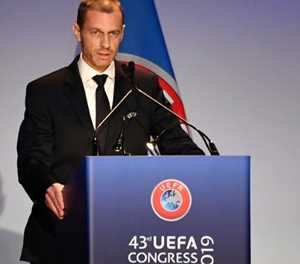 Unopposed Ceferin re-elected as UEFA president