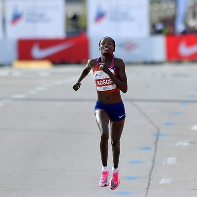 Kosgei joins Kipchoge as IAAF athlete of the year nominee