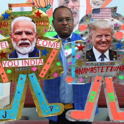 Mega rally to kick off Trump's first official visit to India