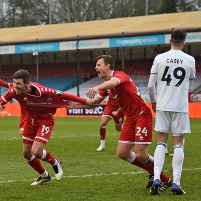 Leeds stunned by fourth-tier Crawley in FA Cup as Spurs crush Marine