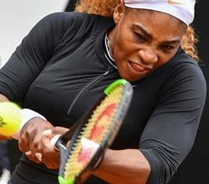Serena eases to victory in Rome return