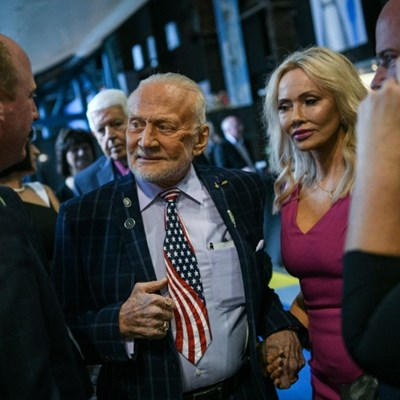 Buzz Aldrin has landed - for the Apollo 11 anniversary