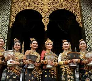 Blessed beauties: Laos new year pageant pits 'King's daughters' as rivals