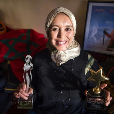 Moroccan climber inspires girls to conquer fears