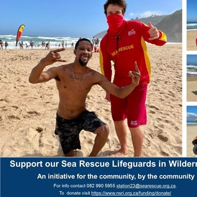 Support our Sea Rescue Lifeguards in Wilderness