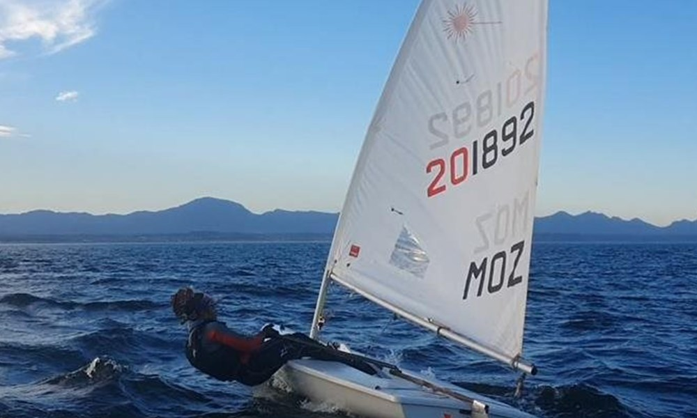 Mozambican sailors training for Olympics in Mossel Bay