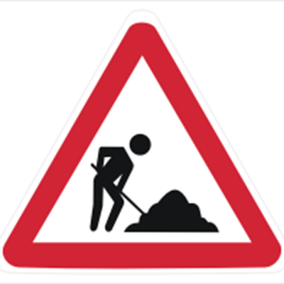 Roadworks on the R102 near George