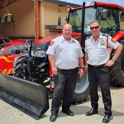 George fire gets specialised tractor for firebreaks