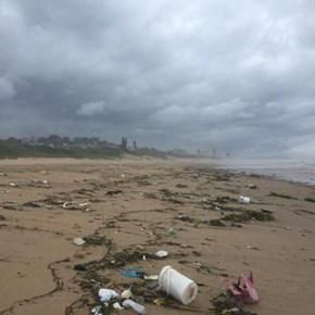 Floods wash over 900kg of litter onto Amanzimtoti coastline