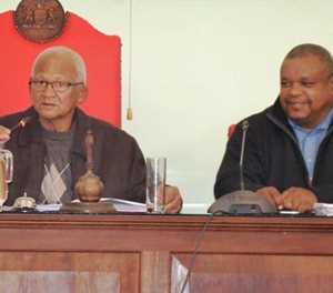 Raadsvergadering in komitee