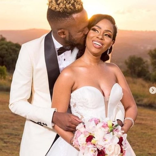 Kwesta and Yolanda's white wedding