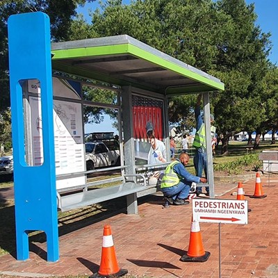 Vandalised bus shelters repaired at huge cost