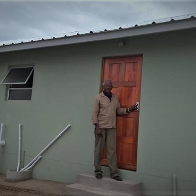 House made of eco-friendly bricks completed