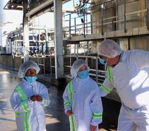 Exciting tour of factory for two Mossel Bay girls