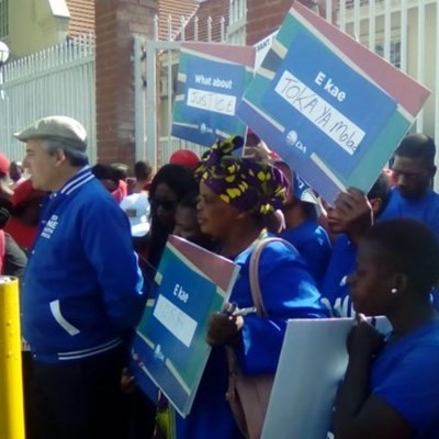 Political parties unite at court to call for harsh punishment for Thoriso Themane murder