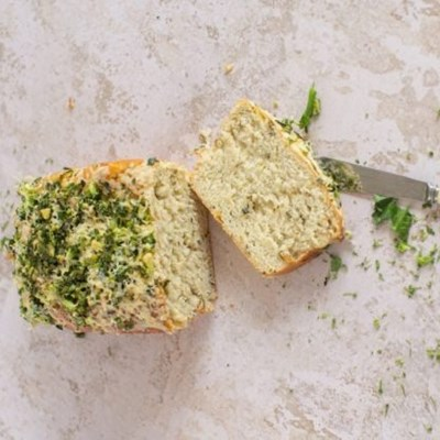 Recipe: Garlic herb and courgettes bread