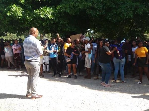 Student protest at Bitou SCC