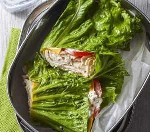 Recipe: Turkey & cheddar lettuce wraps
