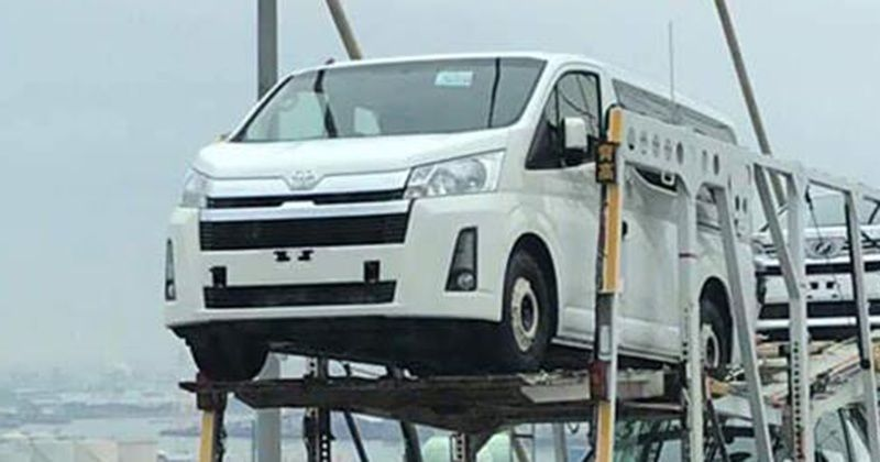 all new toyota hiace pictured with nothing to hide